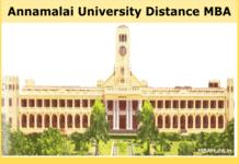 Annamalai University Distance MBA 1