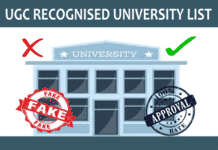 UGC Recognised University List