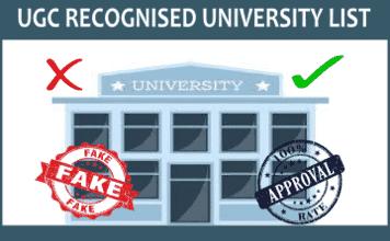UGC Recognised University List